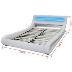 la boutique en ligne lit en cuir 180 215 200 cm blanc led
