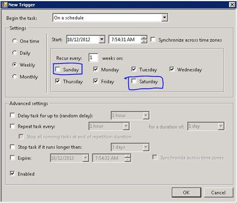 how to schedule a task in windows windows how to schedule a task on all weekdays and then
