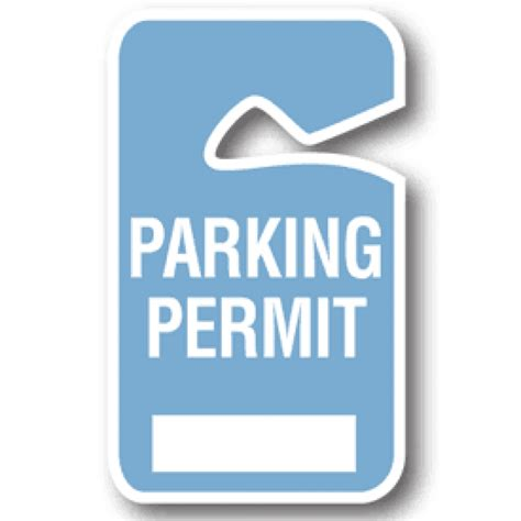 parking permit templates parking pass