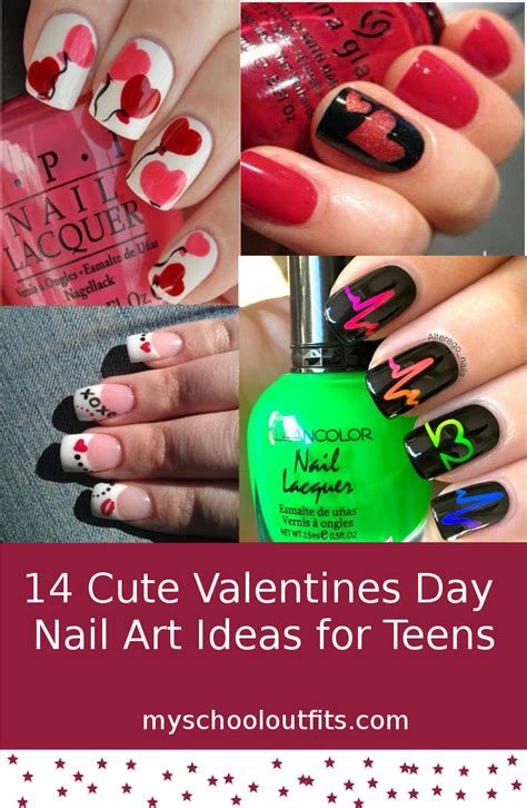 valentines day looks 14 valentines day nail ideas for