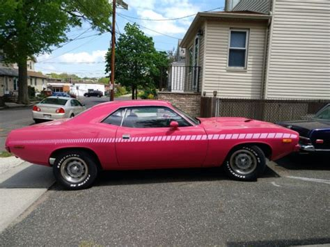 plymouth panther 1972 plymouth barracuda pink panther edition clone