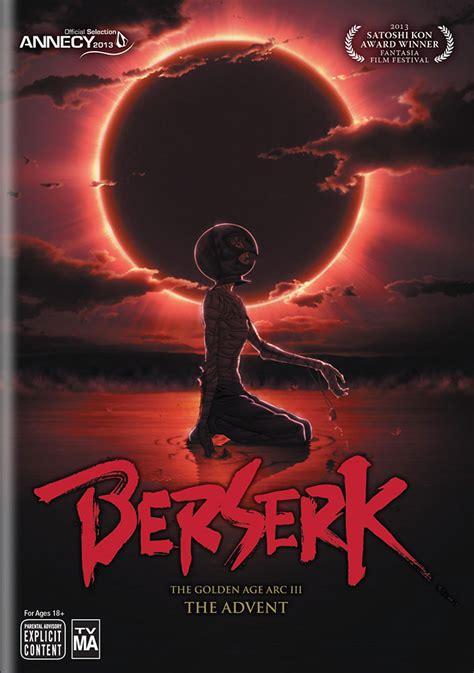 berserk golden age arc berserk the golden age arc 3 the advent dvd