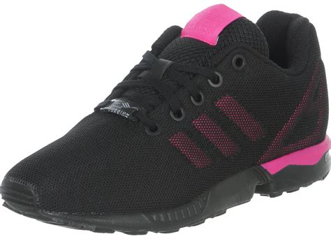 adidas zx flux k w shoes black pink