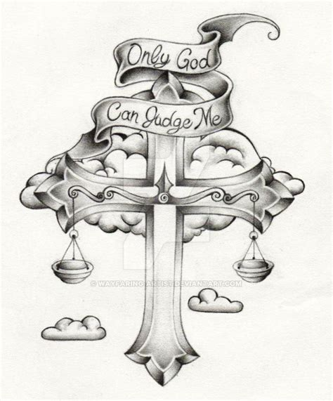 shaded cross tattoo designs cross shaded by wayfaring artist on deviantart