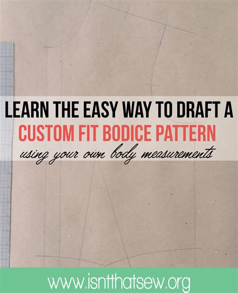 bodice pattern making youtube how to draft a custom fit bodice pattern