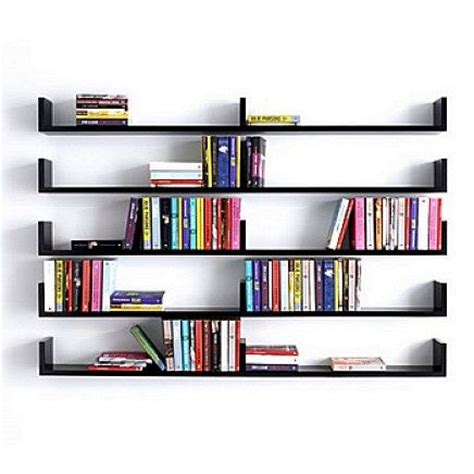 Wall Mounted Design Bookshelves Ideas What About Bookshelves On The Wall