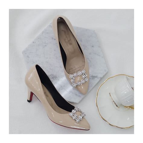 Sepatu Vintage Korean Glossy Vintage Shoes Sneakers Wedges s square pendant classic pumps what is fashion