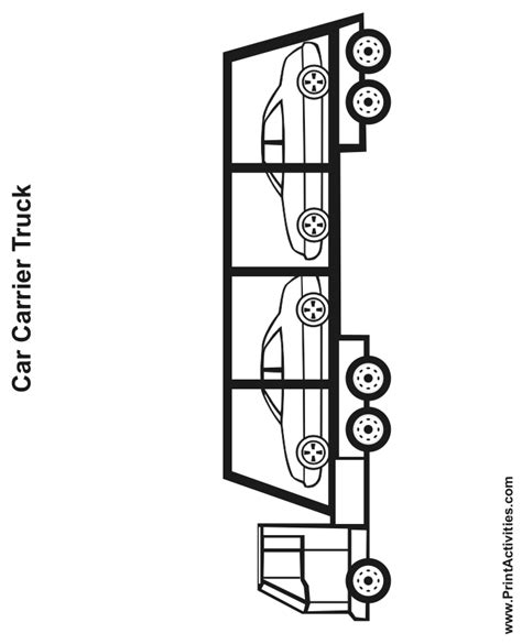 car carrier coloring page truck coloring page car carrier 2
