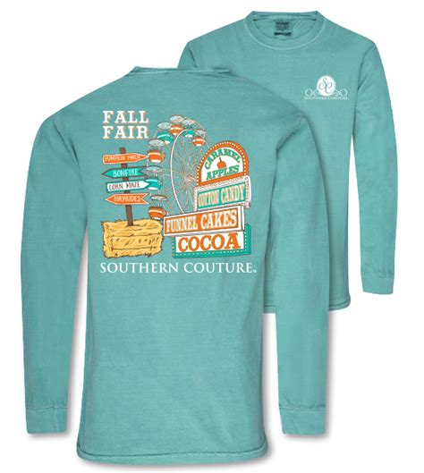 southern comfort colors southern couture preppy fall fair comfort colors long