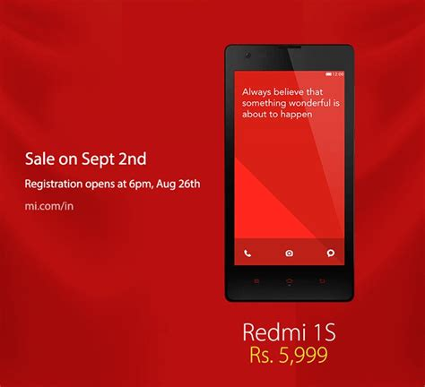 theme creator for redmi 1s xiaomi redmi 1s goes on sale on sep 2nd for rs 5 999
