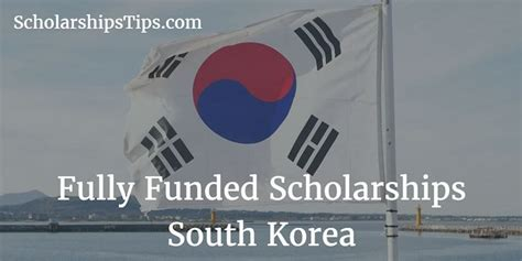 Mba South Korea Scholarship by Fully Funded Graduate Scholarships For International