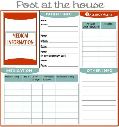 medication pocket card template new beginnings