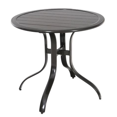 Hton Bay Patio Table - hton bay sterling brown commercial aluminum 30 inch