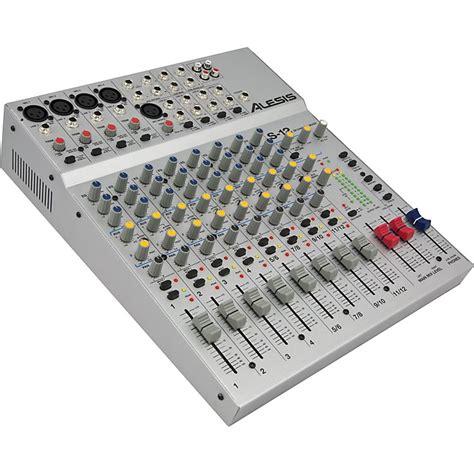 Audio Mixer Linkmaster 12 Channel 12 Ch Mono alesis s 12 12 channel compact mixer musician s friend