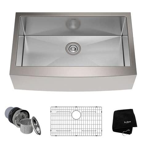 stainless steel apron front kitchen sink kraus farmhouse apron front stainless steel 33 in single