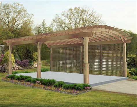 Backyard Creations Arched Pergola 10 X 12 Trellis Plans Free Home Design