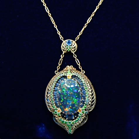 louis comfort tiffany jewelry louis comfort tiffany necklace black white opals ca