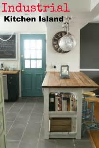 Fancy industrial kitchen island in home design furniture decorating