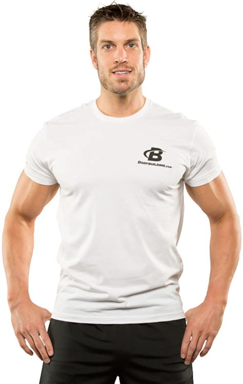 classic fitted logo t shirt by bodybuilding clothing