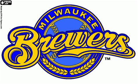 brewers colors brewers coloring page printable brewers