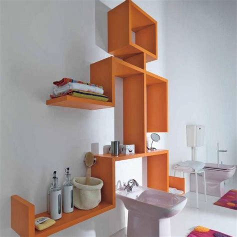 Decorative Bathroom Shelves With Ladder Design Decolover Net Decorative Bathroom Shelves