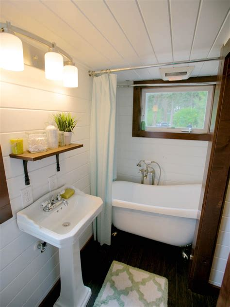 tiny house bathrooms packed  style hgtvs