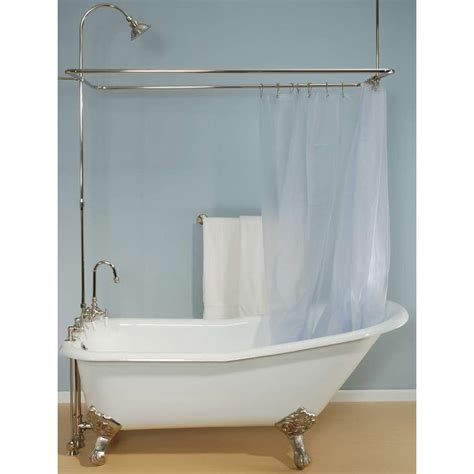 bathtub curtain rods make a clawfoot tub curtain rod the decoras jchansdesigns