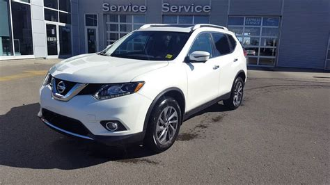 nissan white rogue 2016 nissan rogue sl awd pearl white sherwood nissan