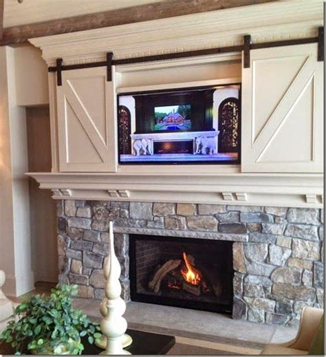 Ideas For Hanging Without A Fireplace by Best 25 Tv Above Fireplace Ideas On Tv Above