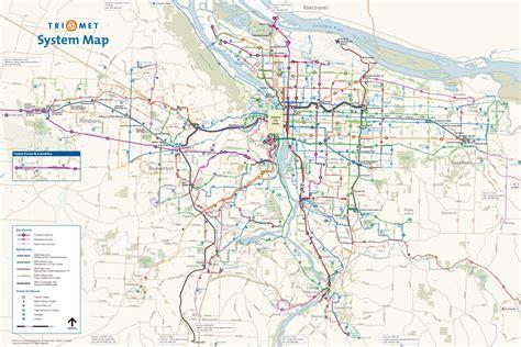 portland transit map trimet map portland bnhspine
