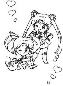 sailor moon and sailor chibi moon coloring page sailor