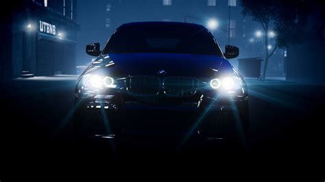 bmw headlights at night bmw lights headlights x6 night hd wallpaper cars