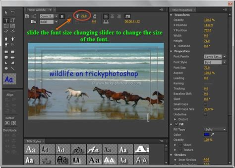 adobe premiere cs6 how to use write movie title using premiere pro cs6 trickyphotoshop
