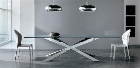 tavolo acciaio e vetro tavolo vetro e acciaio tavoli allungabili da cucina