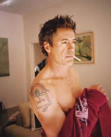 Robert downey jr s tattoos for his wife and son