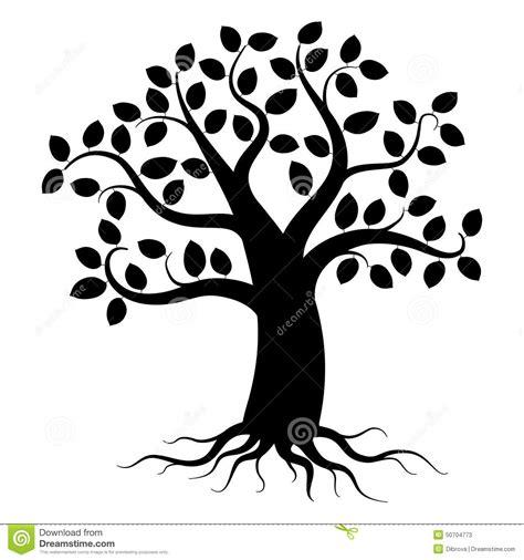 Tree Silhouette Stock Vector Image 50704773 Family Tree Clip Vector