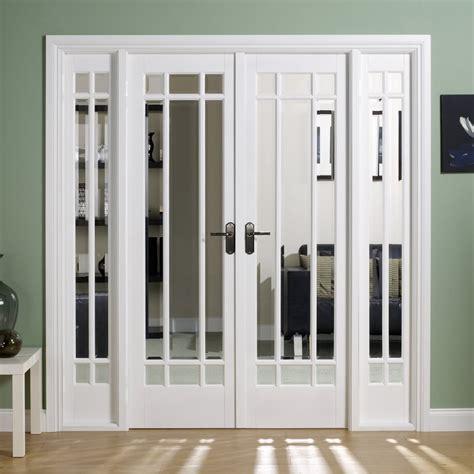 room divider doors lpd manhattan white primed clear bevelled glass w6 room divider door leader doors
