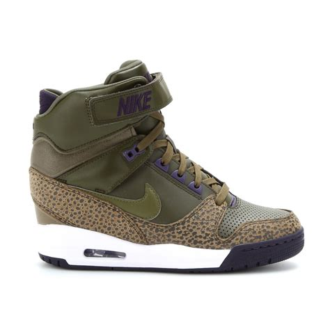 wedge nike sneakers lyst nike air revolution sky hi wedge sneakers in brown