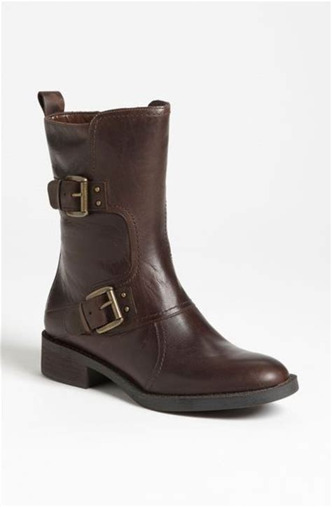 enzo boots enzo angiolini sinley buckle boot in brown brown leather