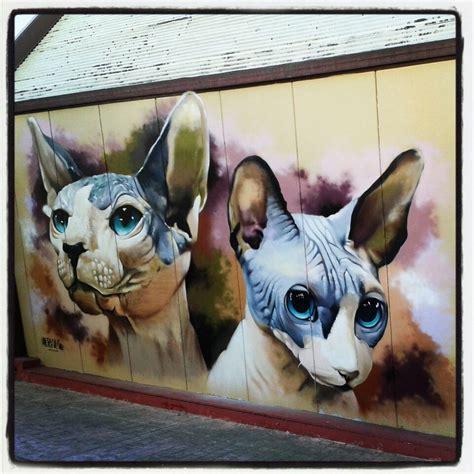 imagenes cool de gatos graffitis de gatos arte con graffiti