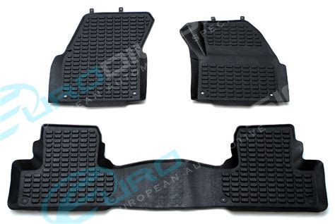 Range Rover Rubber Floor Mats by Land Rover Evoque 2011 Black Rubber Car Interior Floor