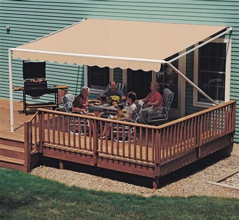 deck awnings retractable 18 ft sunsetter 900xt retractable awning outdoor deck