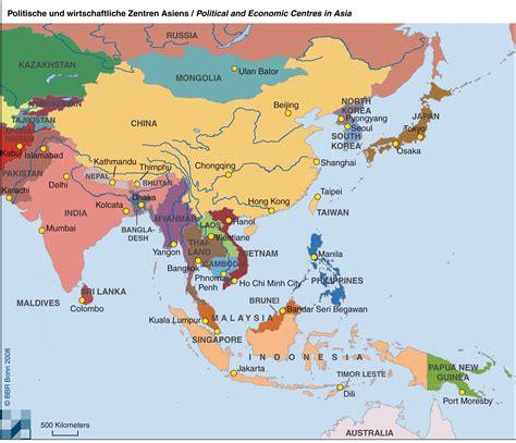 Asiat Gebirge by Asien Karte World Map Weltkarte Peta Dunia Mapa