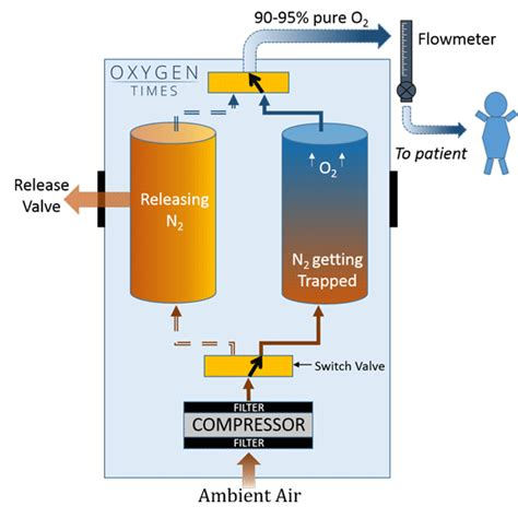 oxygen concentrator diagram how does an oxygen concentrator work