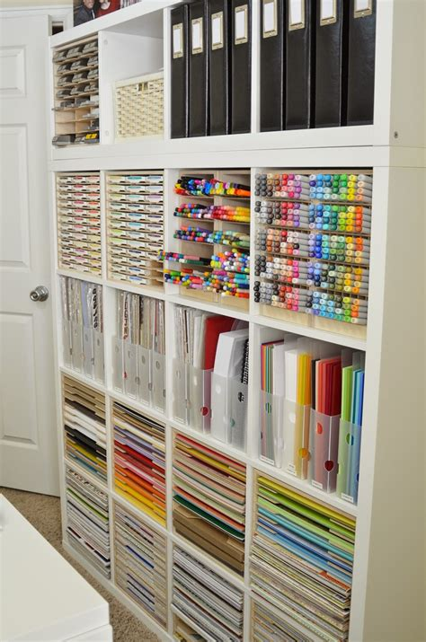 Organizing Craft Paper - craft room organisation using ikea kallax the pen