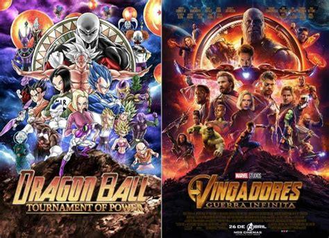 a marvel plagiou o anime dragon ball no poster dos vingadores