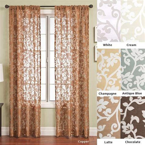 curtain scrolls bellino scroll rod pocket 96 inch curtain panel