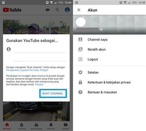 cara membuat akun youtube via hp begini cara membuat akun youtube di smartphone sangat