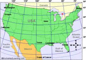 maps usa map latitude and longitude