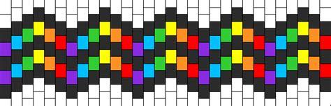 wavy pattern png rainbow wavy cuff pony bead patterns simple kandi